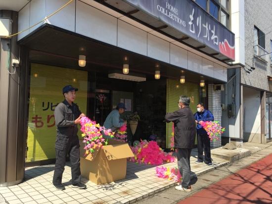 商店街花飾り 002