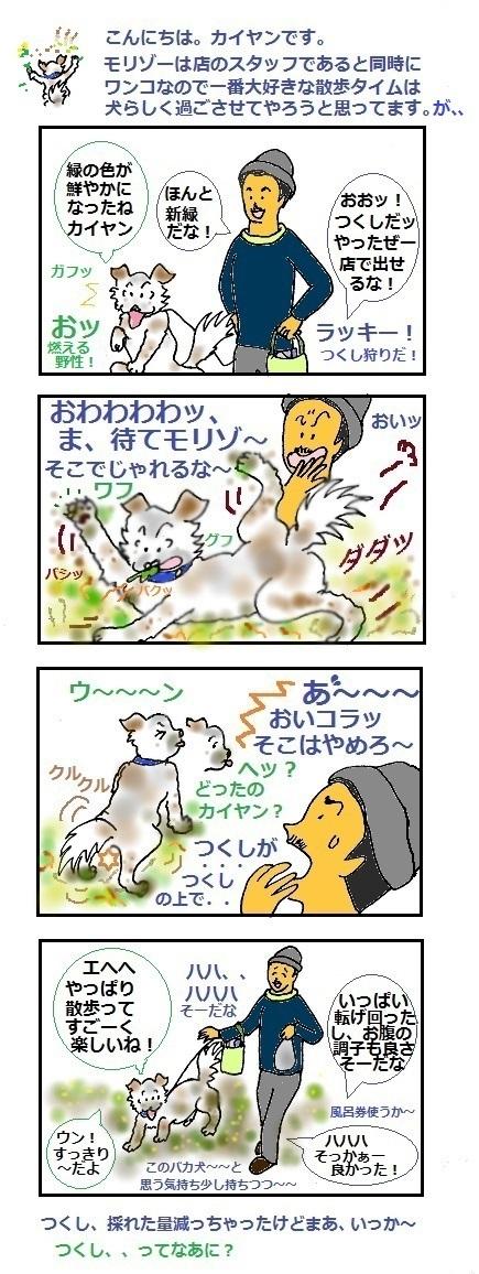 モリゾーちん213 春の喜び方~それぞれ