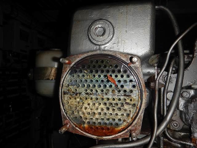 清水熱交換器の開放時、ヤンマ―6GHAK-ST