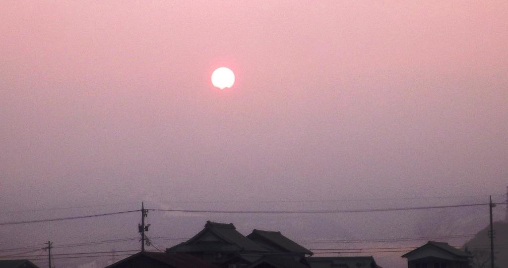 朝焼けの太陽1