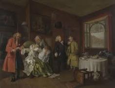 16 ホガース 当世風結婚 Ⅵ夫人の死
