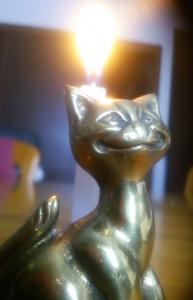 猫キャンドルスタンド2