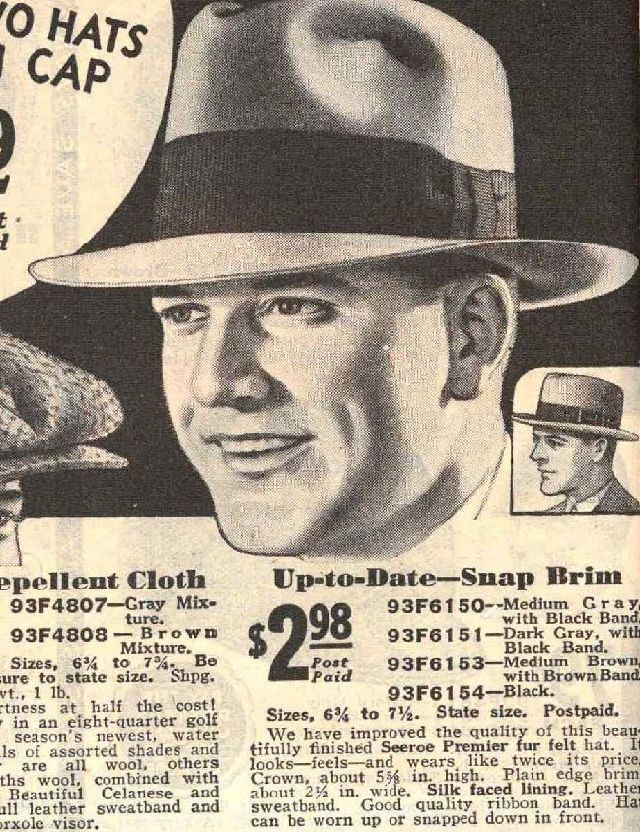 1931 Sears Fall-Win p0364 Men Hats, Fedora