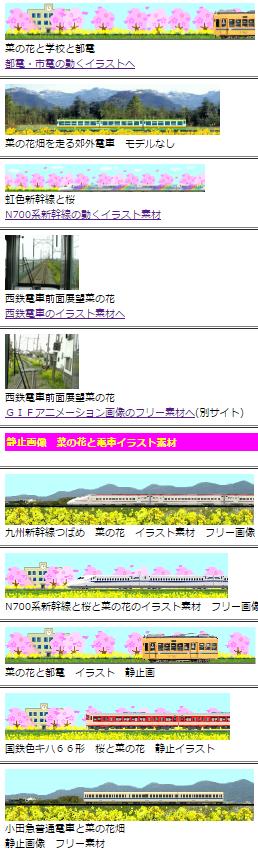 菜の花と鉄道