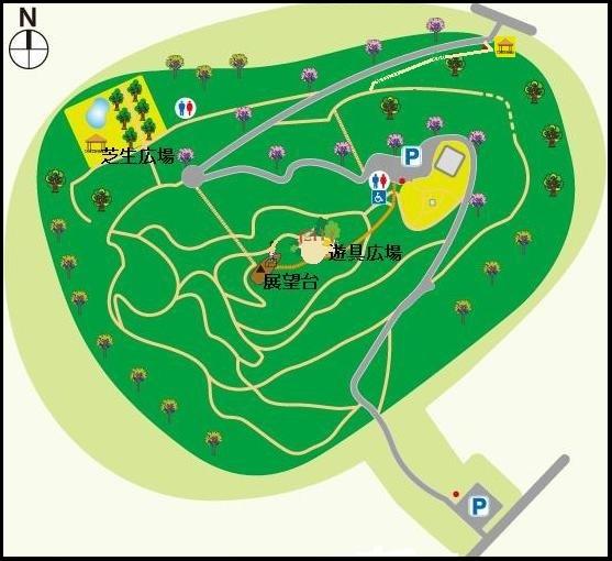 朝日山公園マップ