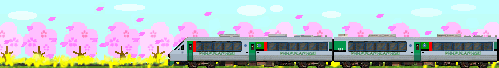 桜と783系
