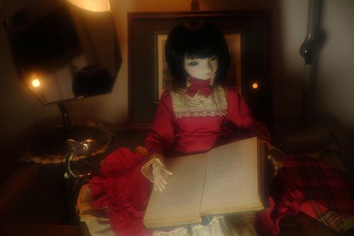 お譲り頂いた、DEAR MINE、DIANAヘッドカスタムの猫レディ、珠世さん。高円寺にあるアンティークショップ・PIIKAさんでの撮影会に参加しました。