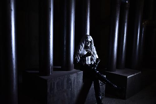 Ring doll、杉苔の空さんにメイクして頂いた、ゾンビヘッド・KaneのKarmaを廃墟風スタジオで撮影しました