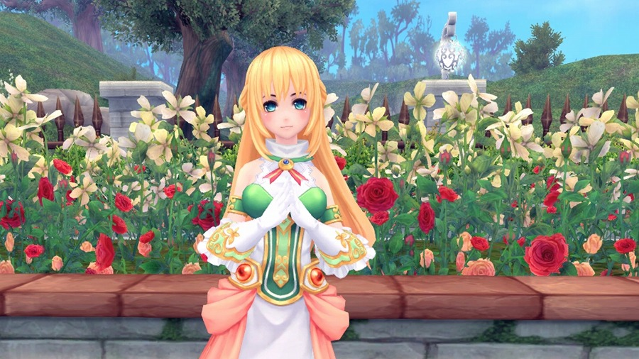 基本プレイ無料の人気のアニメチックファンタジーオンラインゲーム『幻想神域』 「四女神CYBER DIMENSION NEPTUNE」とのコラボアバター第3弾「ベール」の登場だ!
