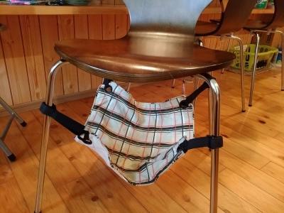 椅子に取り付けるハンモック