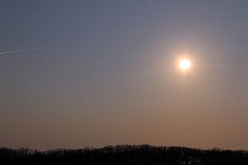 20170404_ホロシリ乗馬クラブからの夕陽