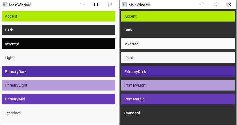 MaterialDesign ColorZone