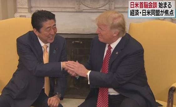 安倍首相 日米首脳会談 トランプ大統領 朝日新聞 ニューヨークタイムス 左派メディア