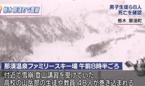 雪崩 那須 スキー場 県立大田原高校 山岳部 ラッセル 雪解け
