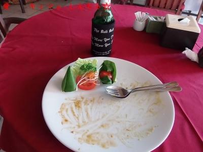 クタ ナシチャンプルの店5 完食 野菜は残した