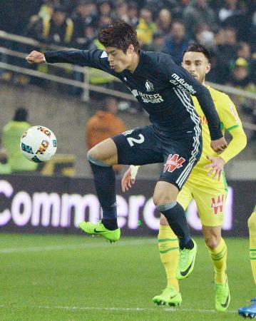 sakai hiroki asisst Gomis (Marseille) goal against Nantes (2-1)