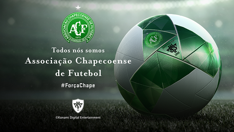Konami Digital Entertainment, Inc makes donation towards relief efforts for Chapecoense Soccer Club