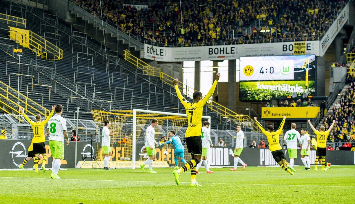 Halbzeit(führung) in Dortmund bvbwob 1-0 HT