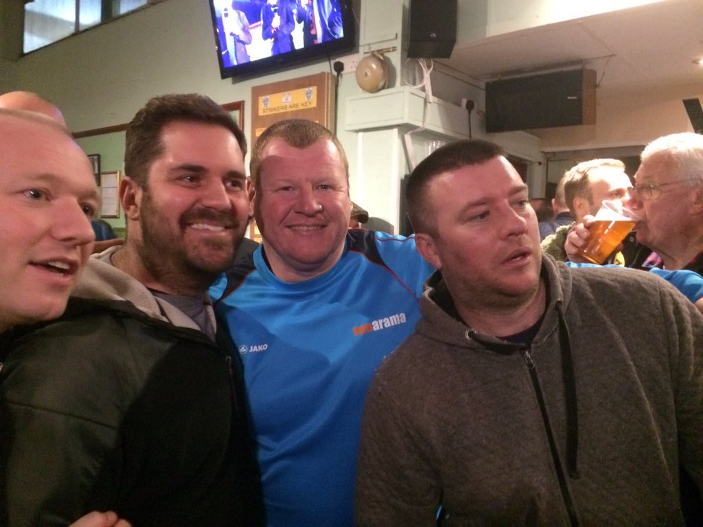Sutton reserve keeper Wayne Shaw is in the bar at half-time