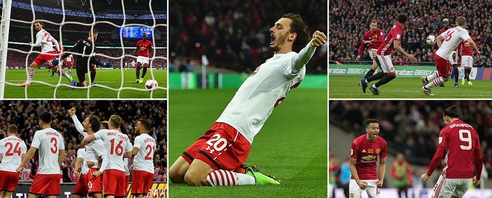 Manchester United v Southampton Gabbiadini hauls underdogs back level after Ibrahimovic and Lingard rubbed salt into wounds of crucial incorrect offside call