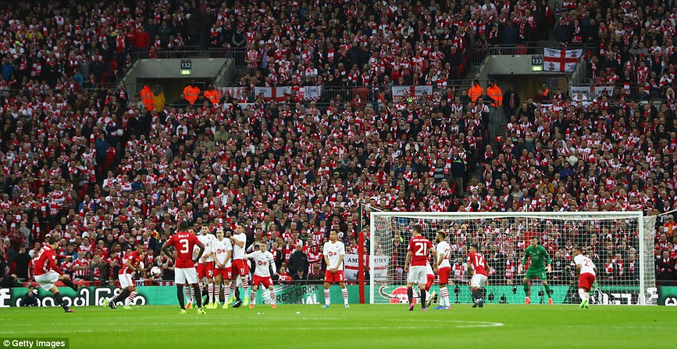 Southamptons disappointment was compounded when Ibrahimovic pinged his free-kick into the back of the net
