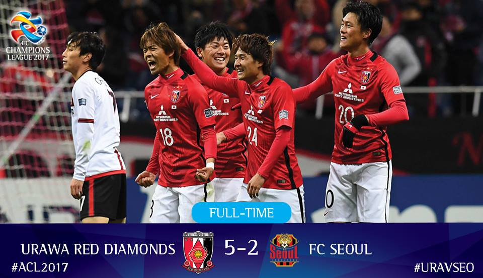 Urawa Red Diamonds maintain their perfect record in the #ACL2017 with another big win