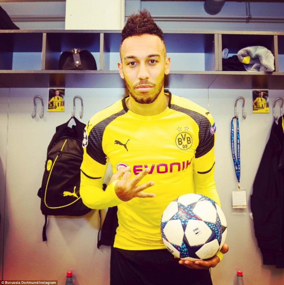 Dortmund 4-0 Benfica Pierre-Emerick Aubameyang fires a hat-trick as Germans book place in Champions League quarter-finals
