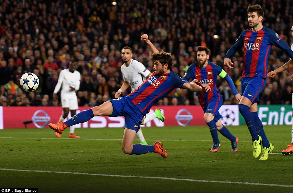 Sergi Roberto poked home from close range to complete the comeback and put Barcelona into the quarter-finals