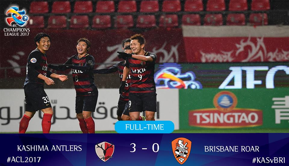 FULL TIME @atlrs_official too good for @brisbaneroar The Japanese champions with a massive 3-0 win
