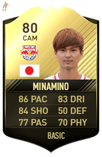 minamino fifa rating 80