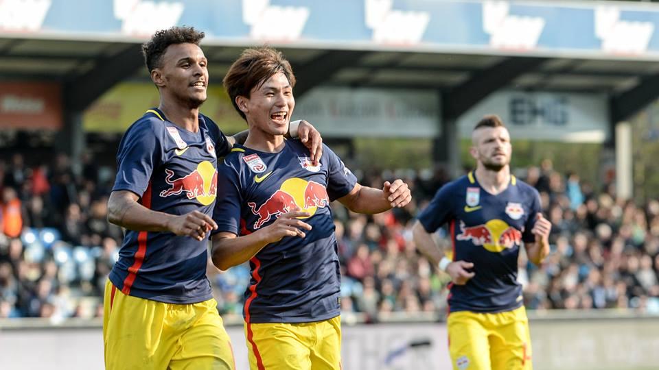minamino takumi goal assist Salzburger Festspiele in Altach