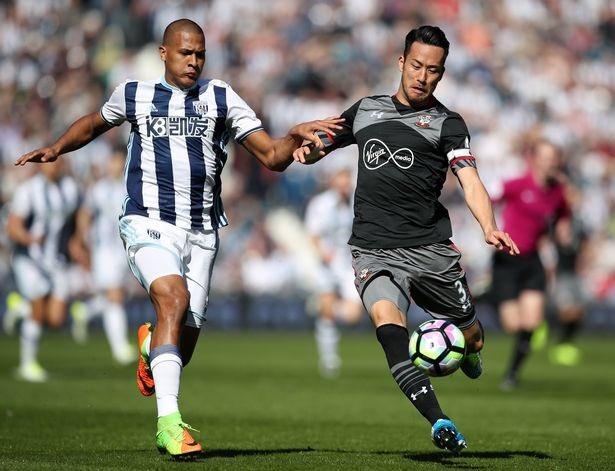 yoshida maya West Bromwich Albion 0-1 Southampton FC 2017