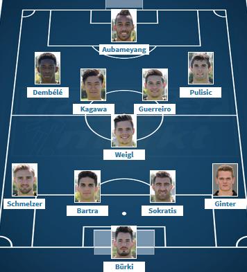 Dortmund VS Monaco Wunschaufstellung 10 2017
