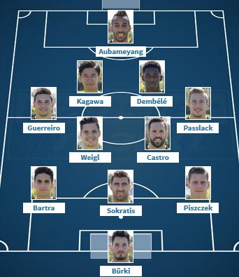 Dortmund VS Monaco Wunschaufstellung 25 2017