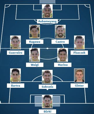 Dortmund VS Monaco Wunschaufstellung 35 2017