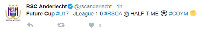 Future Cup #U17 JLeague 1-0 #RSCA