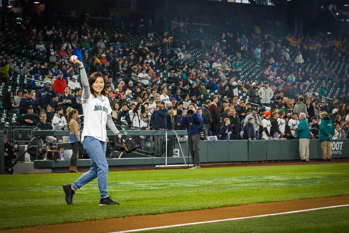 Your next @Mariners starting pitcher_Great first pitch, Naho