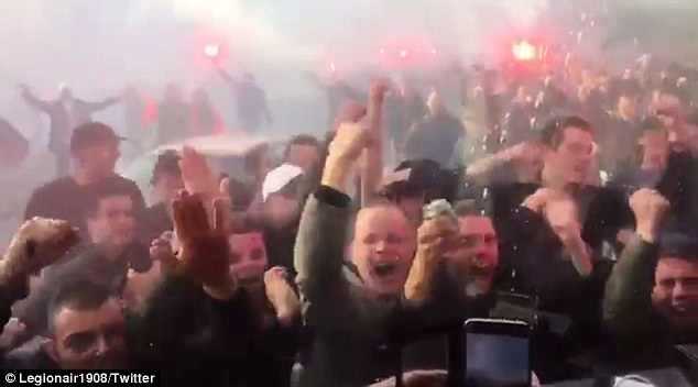 The Dutch fans were in a jubilant mood as their side moved very close to winning the Eredivisie