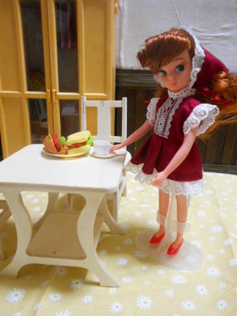 初代リカちゃん 赤ドレス 001