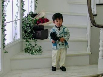 こばぶ二歳のバースデーフォト