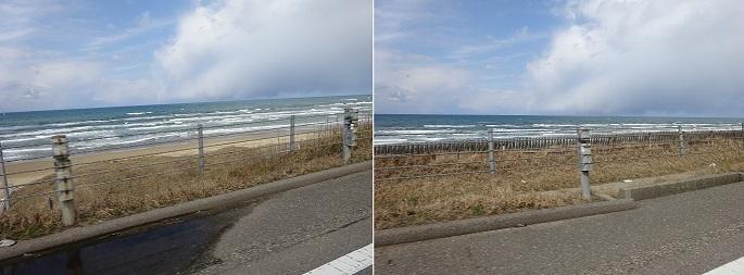 里山道路からの日本海