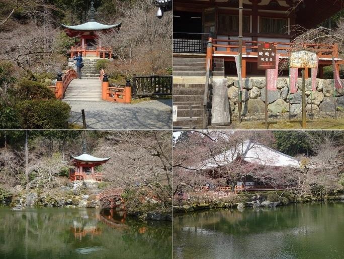 醍醐寺観音堂と池