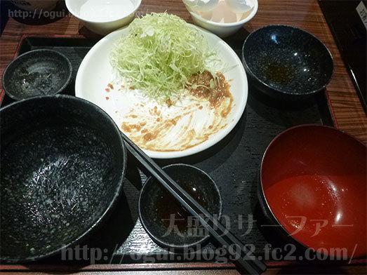 キャベツ丼カレーソース味を実食053