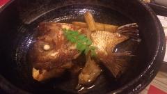 鯛アラ炊き