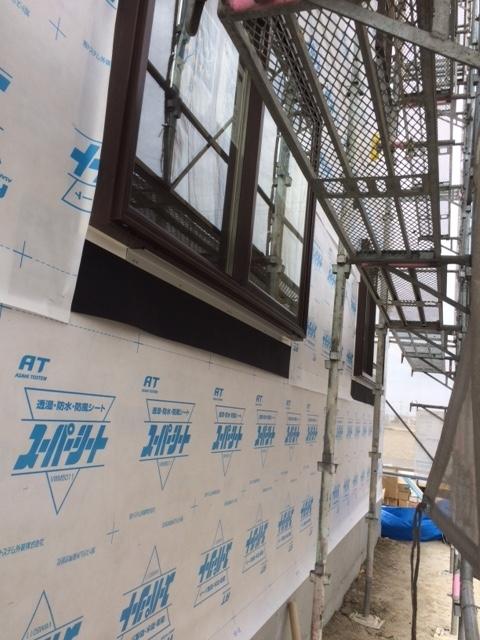新築 サイディング工事①