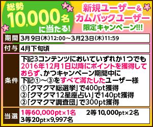ポイントタウン CMくじ 新規ユーザー&カムバックユーザー限定キャンペーン