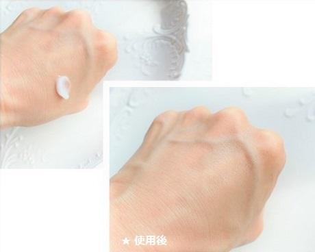 ティモティア保水バリアクリーム 使用前使用後