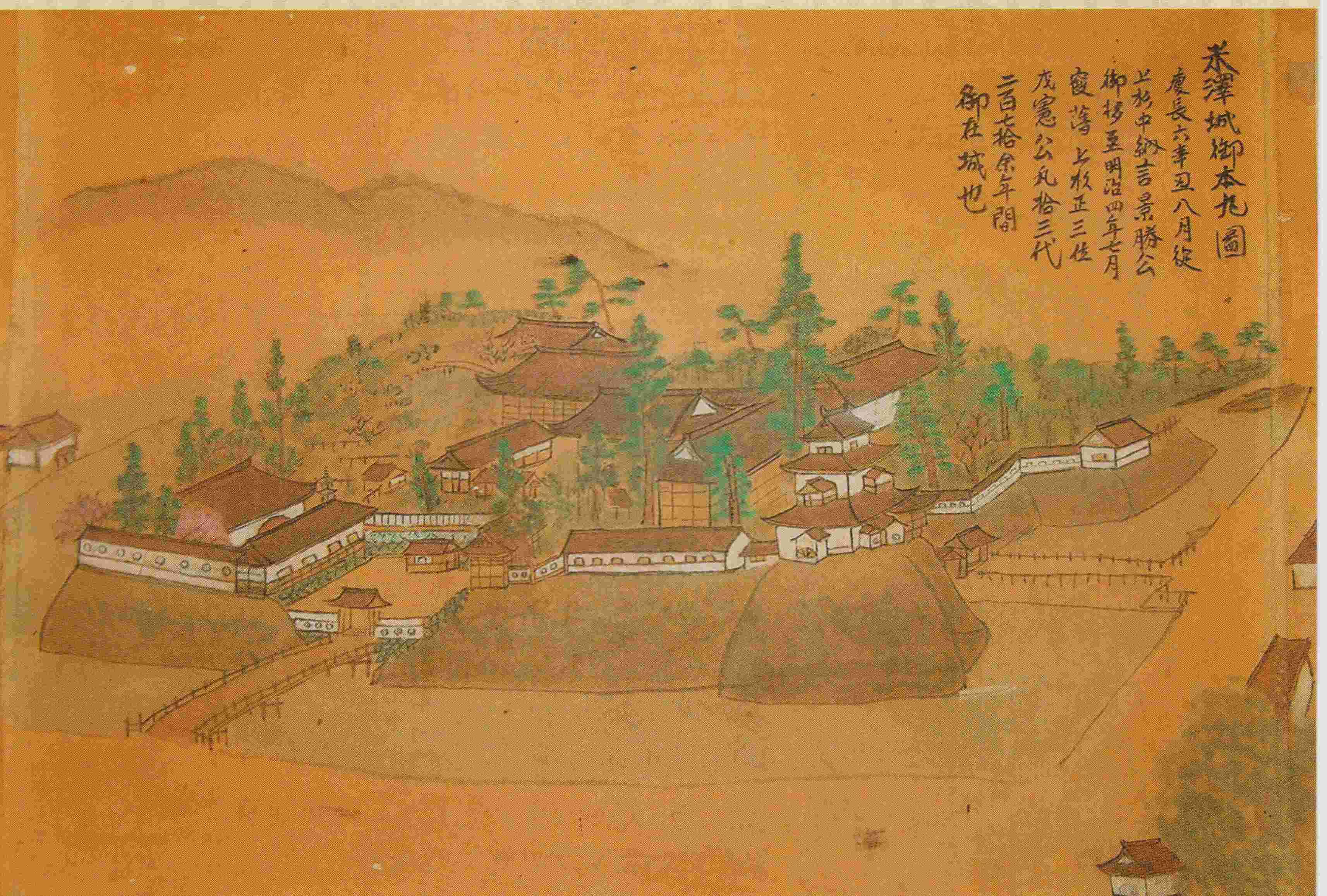 米沢城本丸図