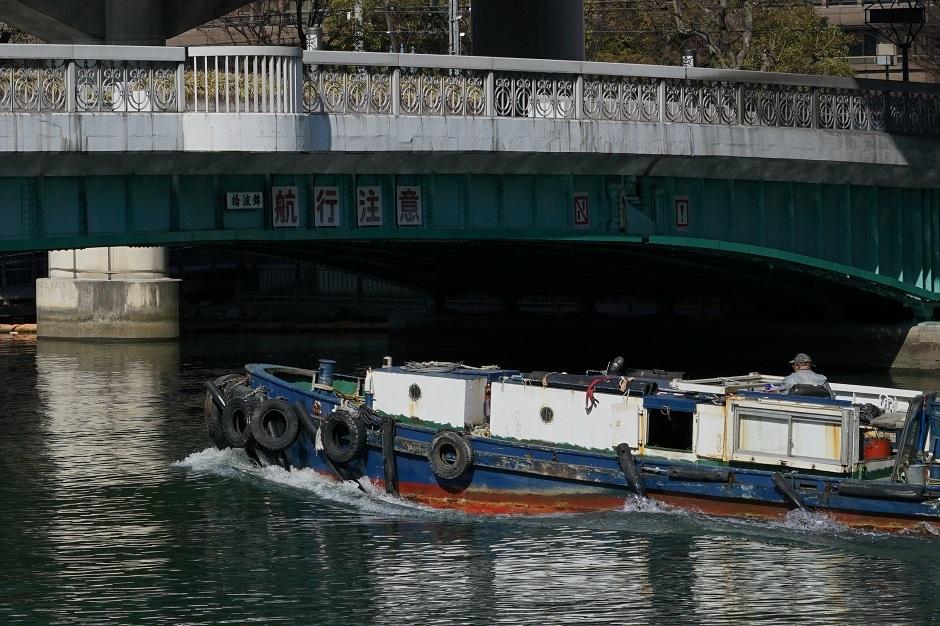 堂島川20170204航行注意s
