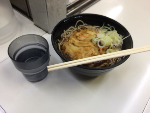 宇都宮駅7・8番線ホームの駅そばを食しました。
